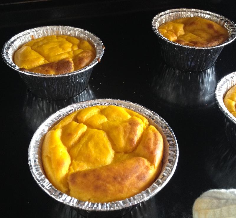 Cottura muffin di zucca