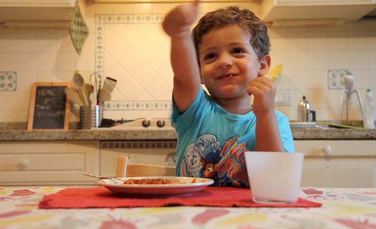 Matteo apprezza la frittata