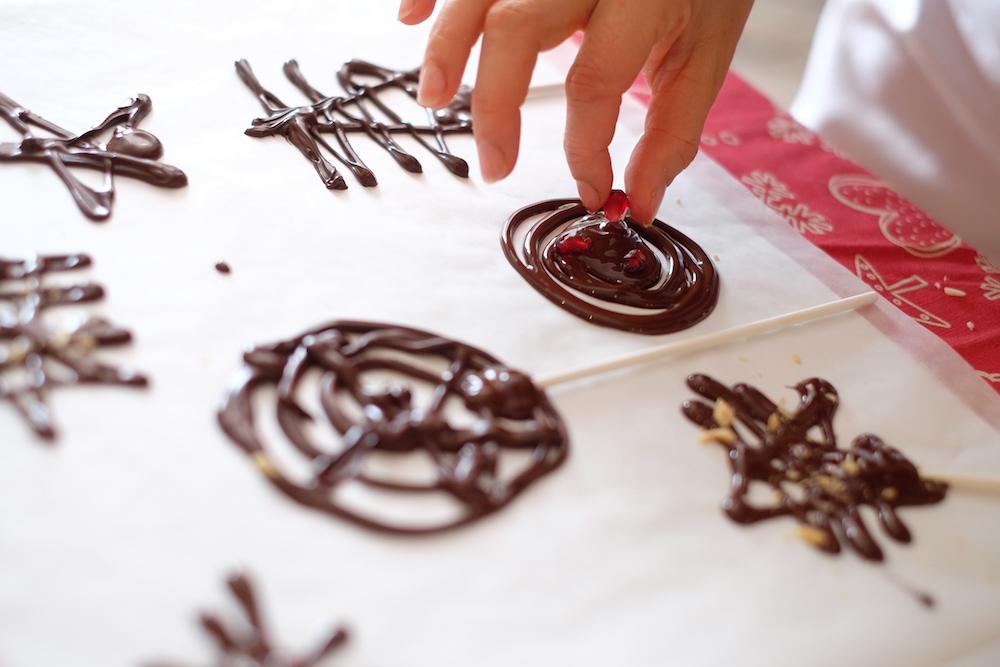 Lecca lecca di cioccolato