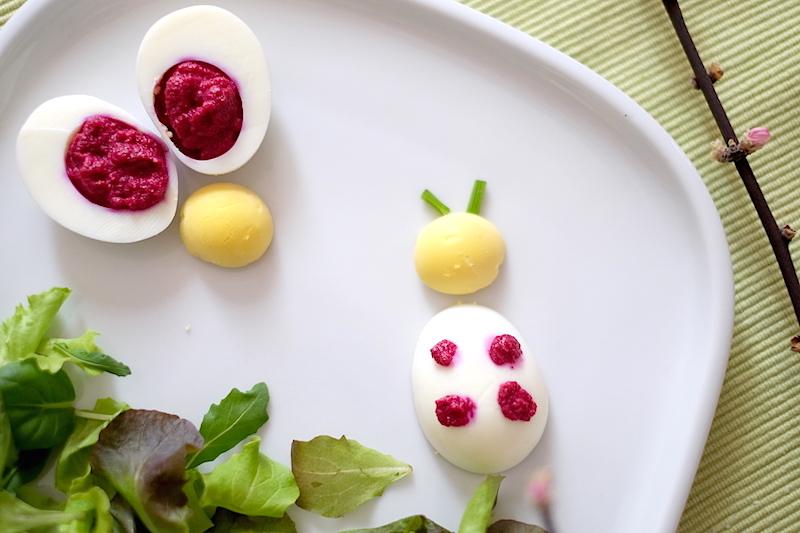 Uova sode ripinene Coccinella