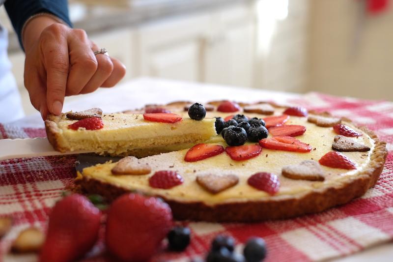 Fetta di crostata di farro: ricette sane per bambini