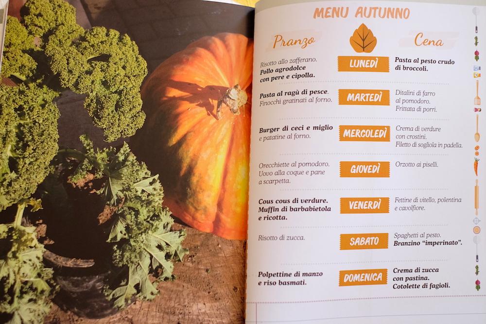 Menu settimanale ricette per bambini