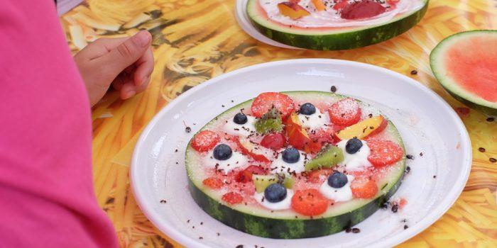Anguria Pizza: merenda sana per bambini