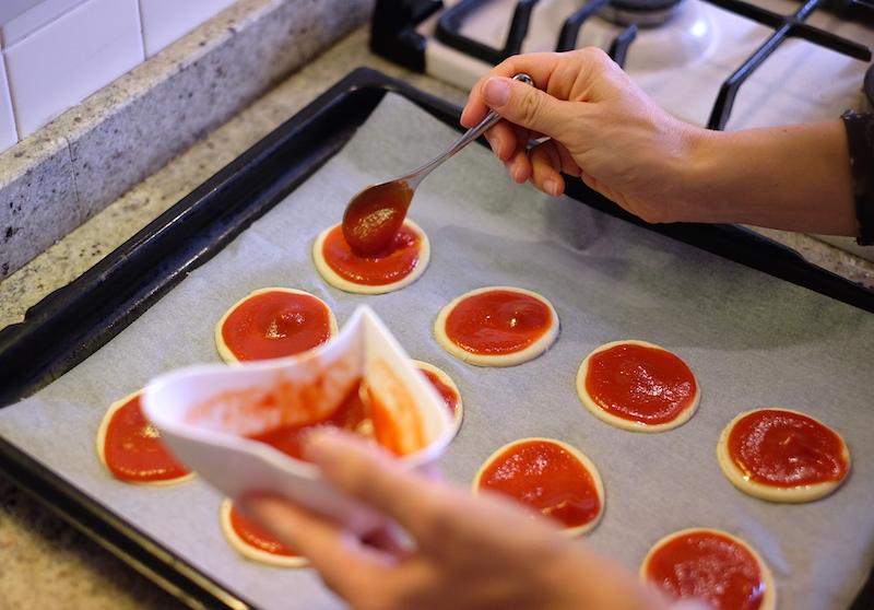 Pizzette veloci preparazione
