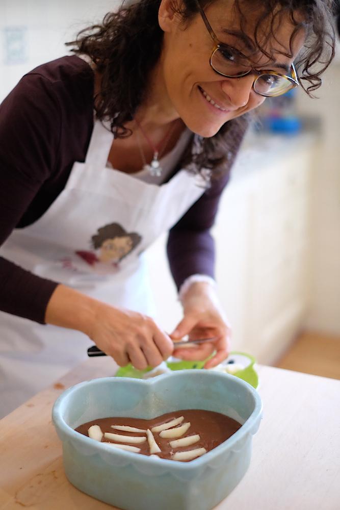 Farcitura torta al cioccolato e pere
