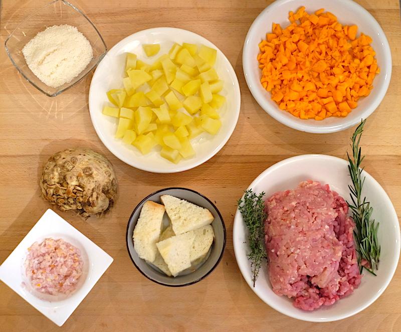 Ingredienti polpettone di carne bianca