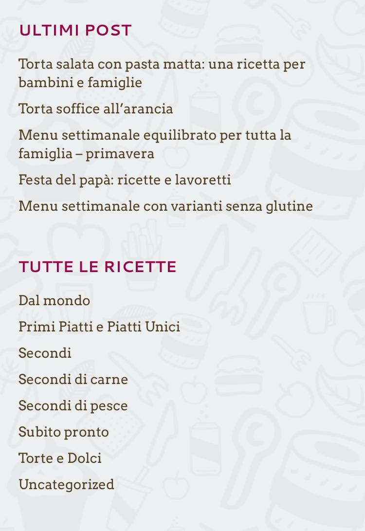 menu senza glutine per bambini