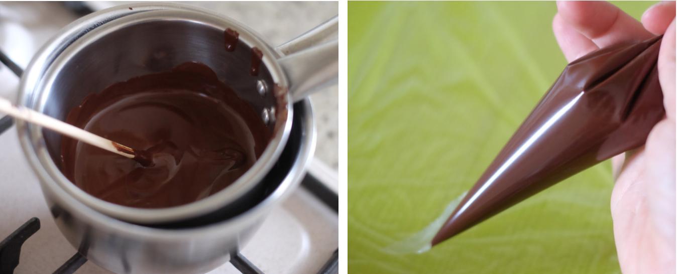 Cioccolato fuso per dessert vegano