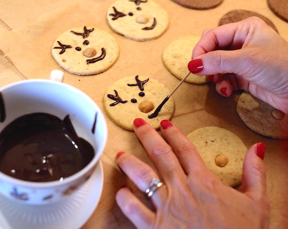 Biscotti di Natale vegani renna