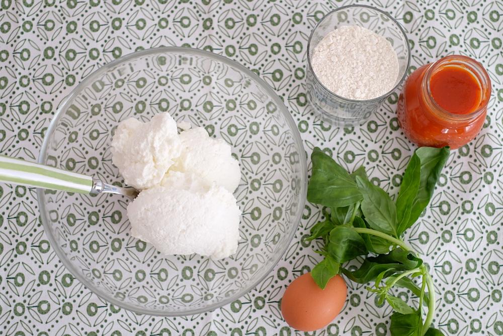 Ingredienti gnocchi di ricotta