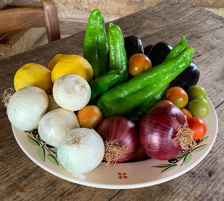 Verdure menu settimanale estivo