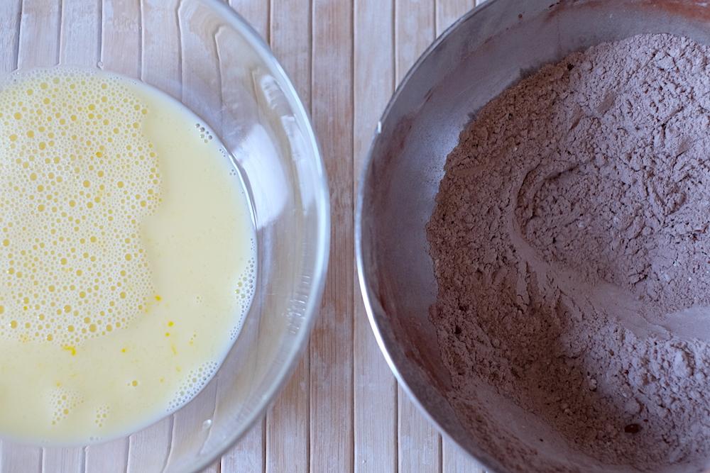 Ingredienti pancake al cacao